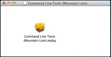 command line tools package installer for mountain lion